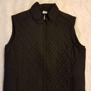 NWOT Black Quilted Vest by JMS Sz 3X